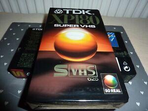 TDK SE-180 Super VHS Video Cassette- Brand New in Wrapper X 2 S-VHS (cj)