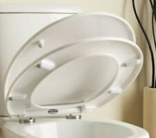 QUICK RELEASE SOFT CLOSE TOILET SEAT WHITE ROUND OVAL BATHROOM HEAVY DUTY LINN