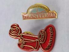 BRANTFOTD TELEPHONE CITY CORP PIN BACK COLLECTOR BUTTON ONT CANADA SOUVENIR LOT