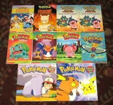 10 Pokemon Scholastic Paperback Books with Pikachu Vacation Mewto More Excellent