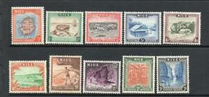 NIUE MNH 1950 SG113-122 DEFINITIVE ISSUE