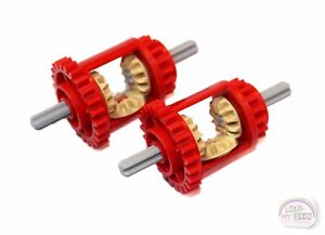 LEGO Technic - 2 x Differential - 24/16T - Red - New - (6573, Gear, EV3)