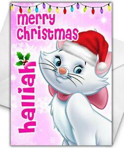 MARIE ARISTOCATS Personalised Christmas Card - Disney Christmas Card