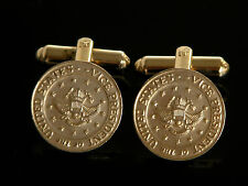 """Vtg Vice President of US Seal White House Cuff Links Stamped """"r"""""""