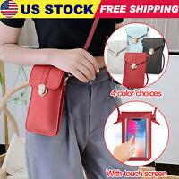 Women Touch Screen Crossbody Cell Phone Bag Wallet Pouch Purse Shoulder Case USA