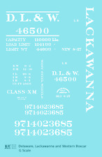 K4 G 1:24 Decals Delaware, Lackawanna and Western Boxcar White Dl&W