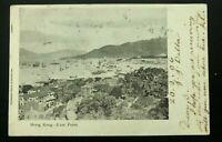 1906 Victoria Hong Kong RPPC Postcard Cover To Dover England East Point SG#78