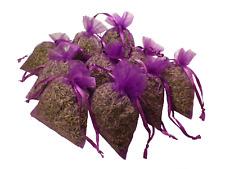 10 Lavendelsäckchen/ Duftsäckchen  a' 20g Organza-gef.mit Franz. Lavendel 200g