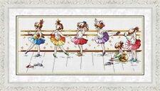 "NEW Cross Stitch Kits""Ballet Girls"""