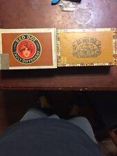 New ListingLot Of 2 Vintage Cigar Boxes Red Dot & El Roi-Tan