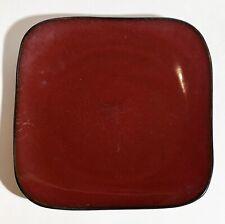"""Gibson Elite - Denova -  SQUARE DINNER PLATE - RED MAROON - 10.5"""""""
