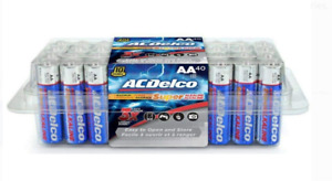 AC Delco AA Super Alkaline Batteries In Recloseable Package, 40 Count