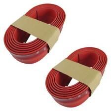 Estriveras faldones alerón labio de goma flexible rojo para muchos vehículos