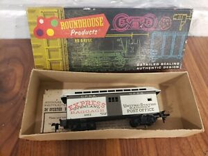 ROUNDHOUSE HO SCALE OLD TIME UNION PACIFIC OVERTON BAGGAGE/MAIL CAR