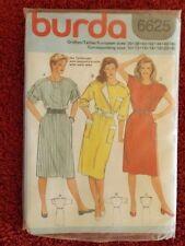Burda 6625 Ladies Dress  Sizes 10 to 20+  UNCUT