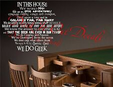 We do geek vinyl wall decal Star Wars Star Trek Dr Who Guild Lord Of The Rings
