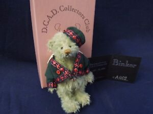 "Deb Canham Mini ""Binker"" 3.5"" First Bear for Club Year 1  1999-2000 LE"
