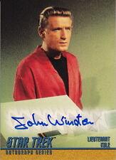 STAR TREK Original Series S3 ~ John Winston 'Lt. Kyle' Autograph Card #A63