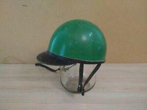 Old vintage moto helmet 1960-70s USSR.