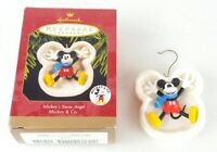 1997 Disney Hallmark Mickey Mouse Snow Angel Christmas Ornament Mickey & Co.