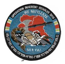 USN CVN-69 USS EISENHOWER 2016 OP INHERENT RESOLVE CRUISE 5 inch JACKET patch