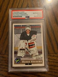 Manon Rheaume Autographed 1992 Classic Rookie Card PSA Slabbed & Certified