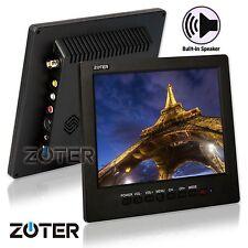 "ZOTER 8"" LCD Portable Monitor Video Audio AV VGA BNC Input for CCTV DVR Camera"