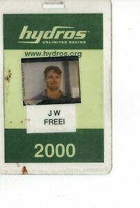 2000 Official badge, JW, Miss FreeI, unlimited hydroplanes