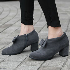 Women's Ankle Boots Bowtie Pointed Toe Zipper Square Heel Low Top Bootie Shoes