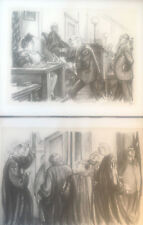 WILLIAM SHARP COURTROOM LITHOGRAPH & OFFSET PRINTS