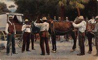 Postcard Horse Traders in Goshen, Indiana~117052