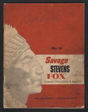 Savage 1932 Component Parts Catalog