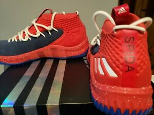 Adidas D lillard 4 Mi Red/White/blue size 11 brand new in box.