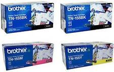 4 x Brother TN155-BK/M/Y Genuine Toner Set TN-155BK(2x),155M,155Y Black,M.Yellow