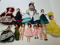"Vintage 8"" Aranbee Storybook Plus others Plastic Doll Lot of 14 Dolls (READ DES)"