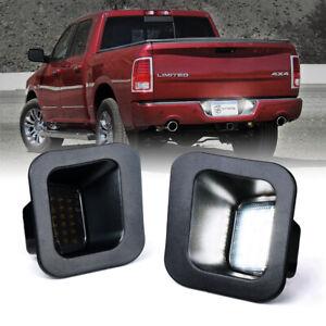 Xprite LED License Plate Light Assembly Smoke Lens for 03-18 Dodge Ram 1500 2500