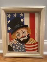 Vintage Red Skelton Signed All American Art On Porcelain 697 Authentic W/ COA