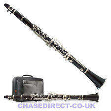 More details for clarinet in bb chase 77c-sc brushed body - complete student outfit - b stock