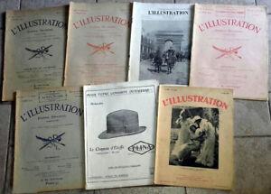 LOT 7 revues guerre L'ILLUSTRATION année 1919 à 1934