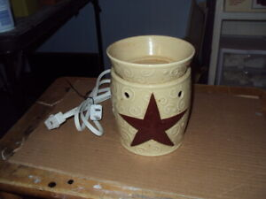 Authentic Scentsy Warmer * RUSTIC STAR * Full-Size *