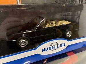 1:18 Scale MCG BMW 3-Series E30 Cabriolet Black NEW IN BOX