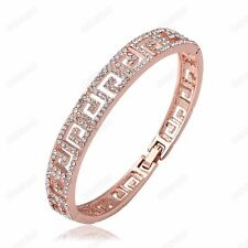 Hollow-carved Fashion Austrian Crystal Bangle Women 18k Gold Plated Bracelet