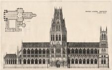 Proposed cathedral, Manchester; R.H. Carpenter, Architect 1876 old print