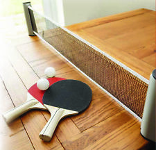 Instant Table Tennis with Two Bats, Balls and Net - Ping Pong Travel Portable