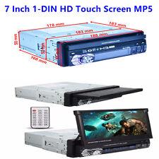 7'' HD Touch Screen 1-Din Car Bluetooth MP3 MP5 Players Radio FM AUX SD+Rear Cam
