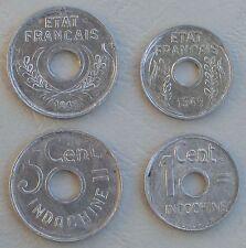 Franz. Indochina / French Indochina 1 + 5 Cents 1943 unz.