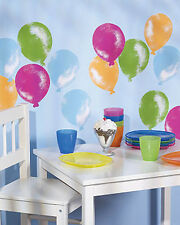 25 Pink Yellow Blue Green Balloons Wallies Wall Balloon Stickers Party Decals