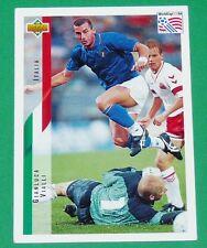FOOTBALL CARD UPPER DECK 1994 USA 94 GIANLUCA VIALLI ITALIA ITALIE SQUADRA