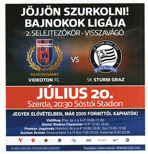 ORIG. match Flyer Europa League 11/12 Videoton FC-SK Sturm Graz!!!