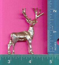 6 wholesale lead free pewter deer flats C3106